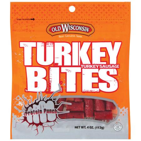 Old Wisconsin Snack Bites Turkey Bites 4 Oz