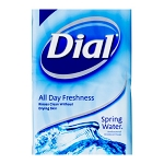 Dial Spring Water Antibacterial Deodorant Bar Soap, 6 bars