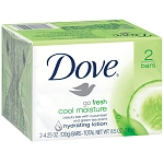Dove Go Fresh Soap 2 / 4.25 oz Bars