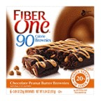 Fiber One 90 Calorie Brownies, Chocolate, Peanutbutter, 5.34oz