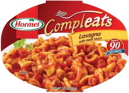 ... Go Meals > Hormel Compleats Homestyle Lasagna with Meat Sauce, 10 oz