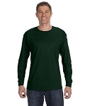 JERZEES LONG SLEEVE T - SHIRT (FOREST)