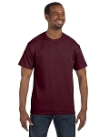 JERZEES 50/50 TEE SHIRT (Maroon)
