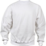 Jerzees Men's Sweat Shirt 50/50 NuBlend Fleece Crew (White)