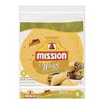 MISSION Flour Wraps -  Jalepeno Chedder 6CT