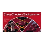3 classics in 1 box. Chess/Checkers/Backgammon 15 oz
