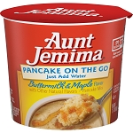 Aunt Jemima Buttermilk & Maple Pancake On The Go, 2.11 oz Cup