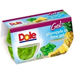 Dole Pineapple in Lime Gel 4-4.3 oz. Cups 16 oz