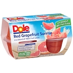 Dole® Red Grapefruit Sunrise in a Blend of 100% Fruit Juices 4-4 oz. Cups 16 oz