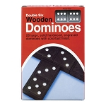 DOUBLE SIX WOODEN DOMINOES 7 oz