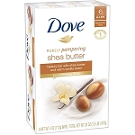 Dove Shea Butter Beauty Bar 3.15 Oz.- 6 Bars