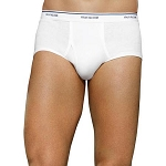 Fruit of the Loom Men's White Cotton Briefs (3 PACK)