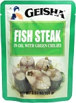 Geisha Fish Steaks with Green Chilies 3.53 oz. Pouch *KOSHER*