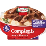 Hormel Beef Steak Tips W/Mashed Potatoes & Gravy Compleats Microwave Bowls, 10 oz
