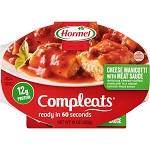 Hormel Compleats Cafe Creations Cheese Manicotti with Meat Sauce NET WT 10 OZ