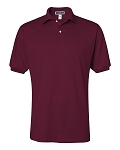 Jerzees Adult 5.6 oz. SpotShield Jersey Polo (Maroon)