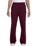 Jerzees Open-Bottom Sweatpants (MAROON)