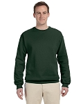 Jerzees Men's Sweat Shirt 50/50 NuBlend Fleece Crew (Forest Green)