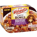 Kraft Velveeta Cheesy Bowls Bean & Rice Burrito Bowl, 9 oz