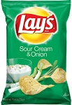 Lay's Sour Cream & onion Potato Chips 1.5 oz