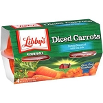 Libby's Diced Carrots, 4 oz, 4 count