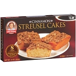 Little Debbie Cinnamon Streusel Cakes, 8 count 13 oz