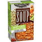 Progresso Good Natured Soup Hearty Lentil, 17.0 OZ (VEGAN)