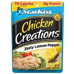 StarKist Chicken Creations Zesty Lemon Pepper Chicken, 2.6 oz. Pouch