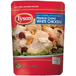 Tyson (FULLY COOKED) Premium Chunk White Chicken Breast, 7 oz