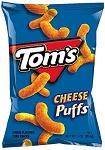 TOM'S CHEESE PUFF CHEDDAR BAG TFF CHEEZER SNACK 1.25 oz