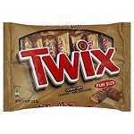Twix Cookie Bars Candy, Fun Size, 11.4 oz