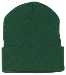 100% Cotton  Cap Hunter Green