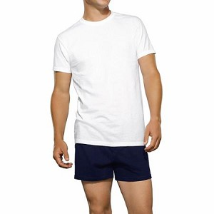 Fruit of the Loom White Crew Neck T-Shirt (3 PACK