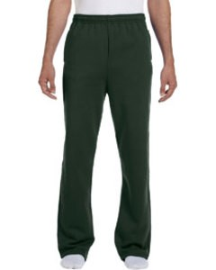 Jerzees Open-Bottom Sweatpants (FOREST GREEN)