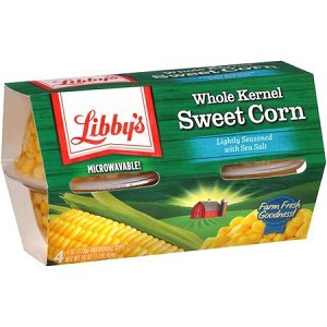 Libby's Whole Kernel Sweet Corn (Microwavable Cups)  4 count