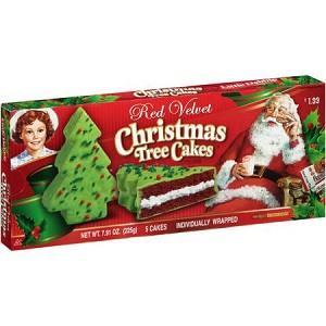 Little Debbie Red Velvet Christmas Tree Cakes 5 Count 7 91 Oz