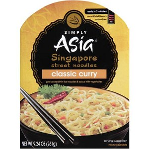 Simply Asia Classic Curry Singapore Street Noodles, 9.24 oz