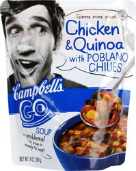 Campbell's GO! Soup Chicken & Quinoa with Poblano Chilies 14 oz. Pouch
