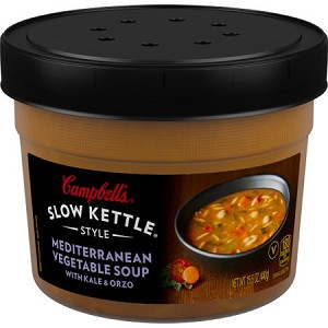 Campbell's Slow Kettle Style Mediterranean Vegetable Soup with Kale and Orzo, 15.5 oz.