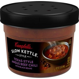 Campbell's Slow Kettle Style Texas-Style Angus Beef Chili with Black Beans, 15.5 oz