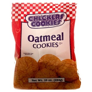 Checkers Cookies Oatmeal Shortbread 9 oz