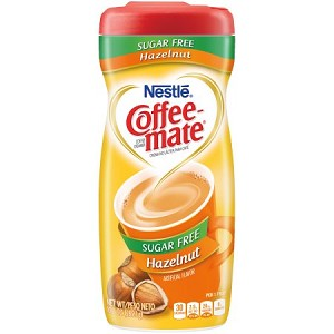 COFFEE-MATE Hazelnut Sugar Free Powder Coffee Creamer 10.2 oz. Canister