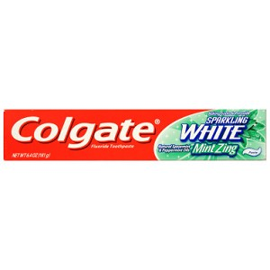 Colgate Sparking White Toothpaste - Mint Zing, 6.4 oz