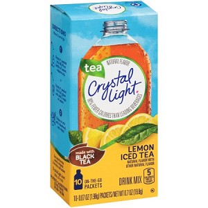 Crystal Light On-the-Go Lemon Iced Tea Drink Mix 10 ct Box