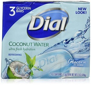 Dial Soap Bar, Coconut Water, 3 Count