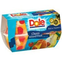 Dole Cherry Mixed Fruit Cups, 4 / 1 OZ Cups