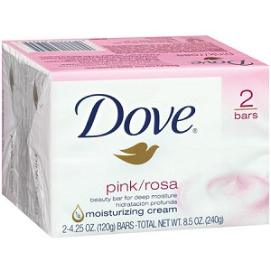 Dove Pink/Rosa Soap 2 / 4.25 oz Bars
