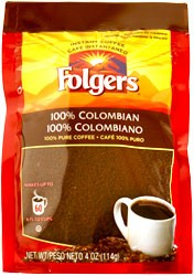 Folgers 100% Columbian Roast Instant Coffee 4 oz.
