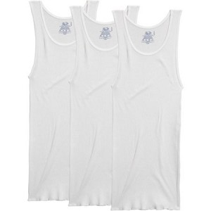 Fruit of the Loom Men's White Athletic Shirt 3 Pack