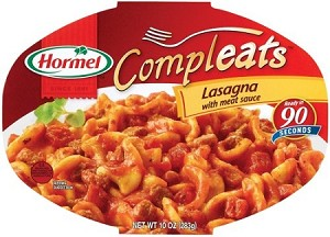 Hormel Compleats Homestyle Lasagna with Meat Sauce, 10 oz